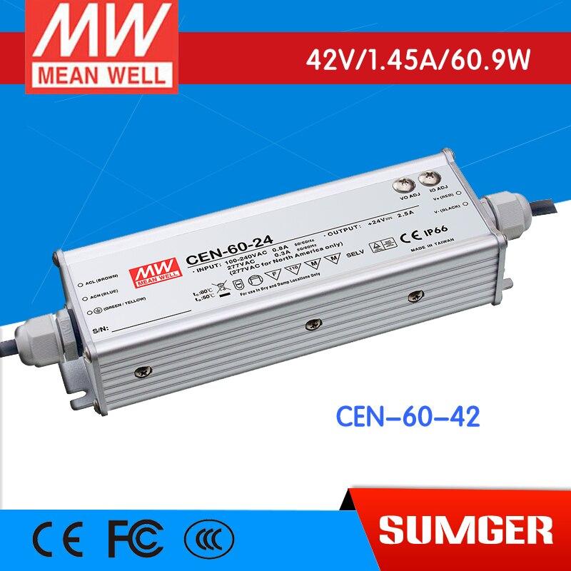 [MEAN WELL] original CEN-60-42 42V 1.43A meanwell CEN-60 42V 63W Single Output LED Power Supply