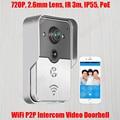 720P WiFi Video Door Bell Camera Remote Unlock Door Phone PoE IR Night Vision Waterproof Wireless Intercom iOS Android Doorbell