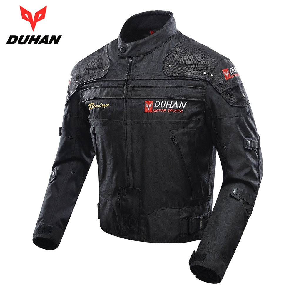 DUHAN Motocross Jacket Moto Windproof Cold-proof Men Motorcycle Jacket Armor Touring Motorbike Jacket Protective Gear Clothing duhan motorcycle jacket motocross jacket moto men windproof cold proof clothing motorbike protective gear for winter autumn