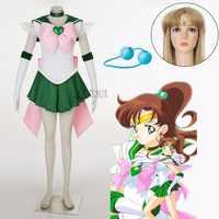 Athemis Anime Sailor Moon Kino Makoto/Sailor Jupiter Super S Cosplay Costume Custom Made Any Size High Quality Dress