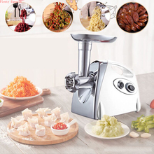 цена на Multifunction Electric Meat Grinder Mincer filler Sausage Filling Maker Machine stuffer vegetables Slicer Cutter 110V or 220V