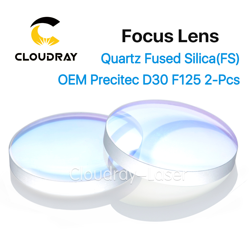 Cloudray Spherical Focusing Lens D28 D30 F75 F100 F125 2Pcs Precitec OEM Quartz Fused Silica for High Energy Fiber Laser 1064nm shure a27sm
