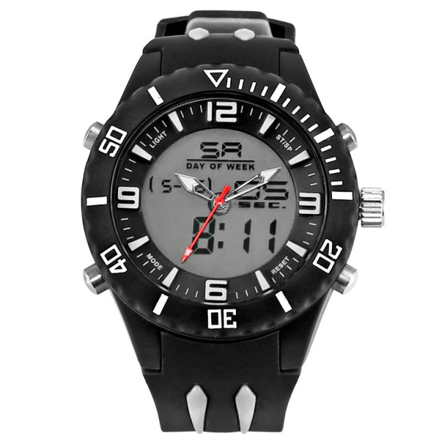 New Military Watches Men Waterproof Dual Time Sport Watch S Shock Alloy Watch Fashion Men's Wristwatch Silicone Strap WS1043