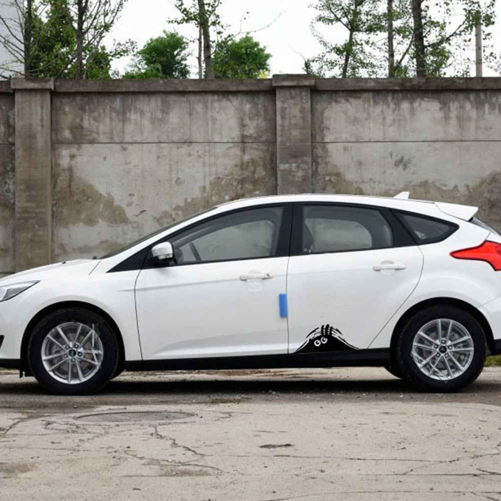 Engraçado peeking monstro carro auto adesivo paredes janelas gráficos vinil decalques do carro adesivos de carro estilo do carro acessórios