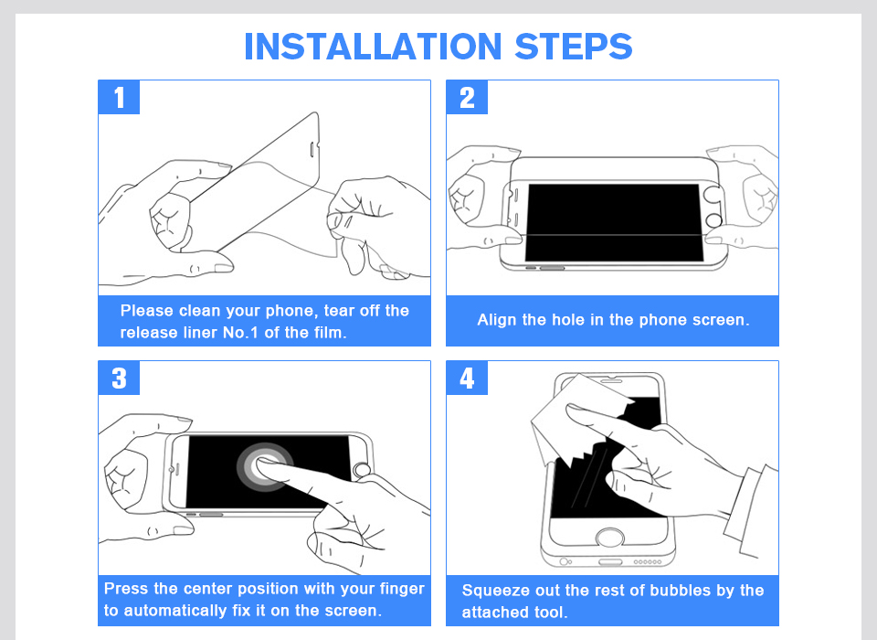 Easy to Install tempered glass