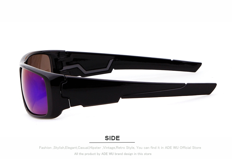 16b9ca8bc365 ADE WU Band Men's Sport Sunglasses Goggle Glasses Frame Luxury O ...