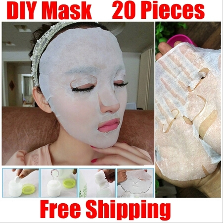 Brand New 20 pz/pacco Cura Della Pelle del Viso maschera Facciale in fibra di carta FAI DA TE Compressa Dry Maschera di Carta di Bellezza