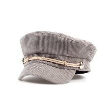 2017 new design women men fashion navy hats cotton flat beret cap hat casual outdoor trend