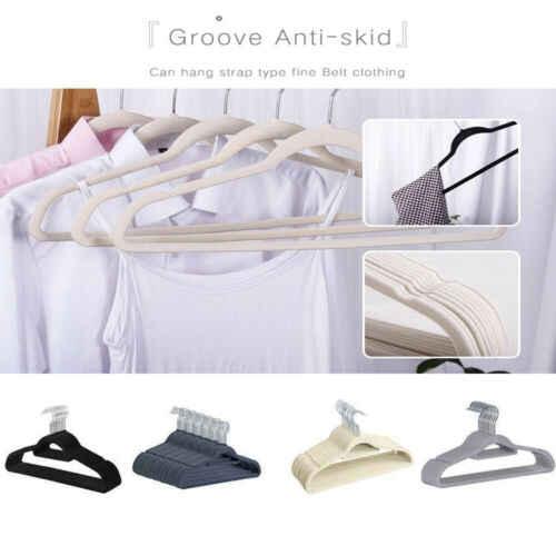 Нескользящие бархатные вешалки-вешалки для костюмов ультра тонкие Экономия пространства 360 градусов поворотный крюк сильный и прочная одежда Анж