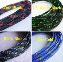 """12MM 15/32"""" Tight Braided PET Expandable Sleeving Cable Wire Sheath Free Shipping - 5 Meters"""