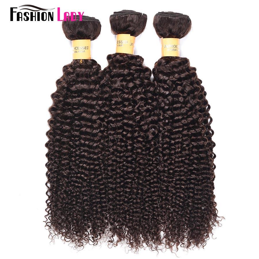 Fashion Lady Pre-colored Peruvian Hair Bundles Color 2 Hair Bundles Curl Human Hair Exte ...