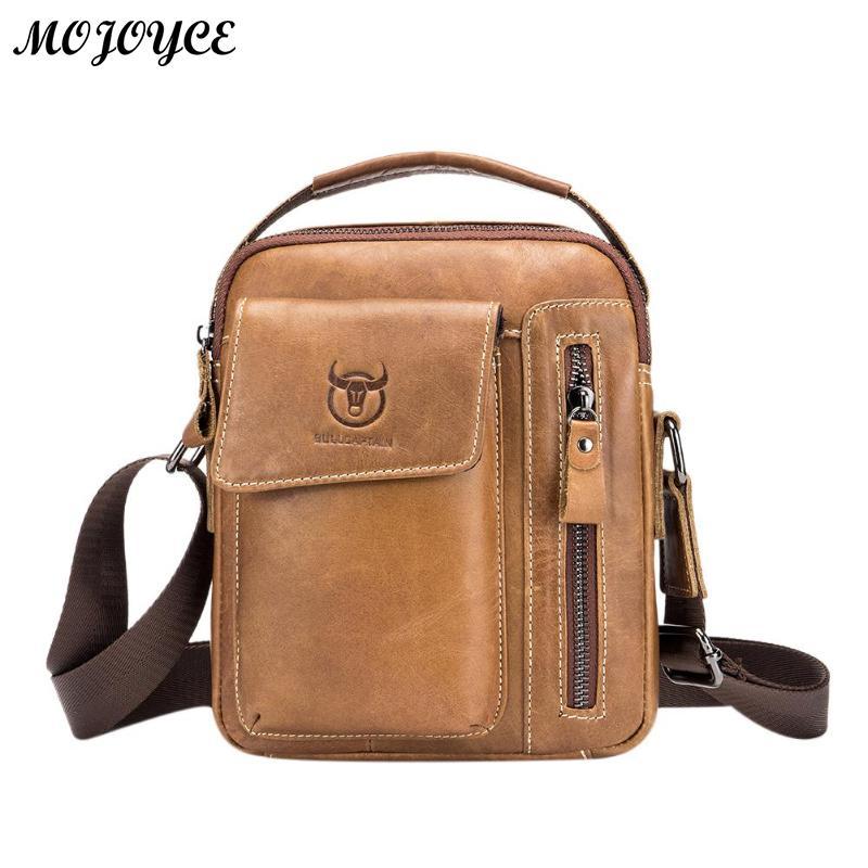 BULLCAPTAIN Genuine Leather Men Messenger Bag Casual Crossbody Bag Business Men s  Handbag Bags for gift brand 0964a5e0f1d5c