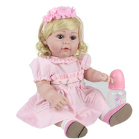 NPK 17inches 43CM baby reborn silicone inteiro Bonecas Baby Alive toddler girl princess cute dolls gift toys for children