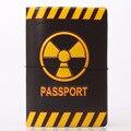 Опасности Предупреждающие Знаки Шаблон Обложка для Паспорта ПВХ Владельца паспорта Случае