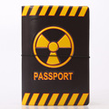 Risk Warning Signs Pattern  Passport Cover PVC Passport Holder Case