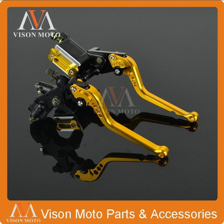 Billet Brake Lever Master Cylinder + Cable Clutch Perch For Suzuki 125-500CC motorcycle 7/8 22MM meziere wp101b sbc billet elec w p
