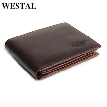 19ccfa4183c1 WESTAL Vintage Genuine Leather Men Wallets Leather Wallet Credit Card Man  Purse Male Wallet Men s Small Wallets Card Holder 8866