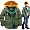 winter down coat snowsuit kids male child short design thickening children's clothing baby kids down jacket parkas warm with hat