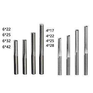 Image 3 - Doppel edged gerade slot fräser CNC maschine werkzeug 2 Flöte Fräser Hartmetall 4/6mm bits für Schneiden