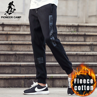 Pioneer Camp 2016 New Fashion Thick Pants Men Brand Clothing Casual Male Trousers Quality Fleece Winter