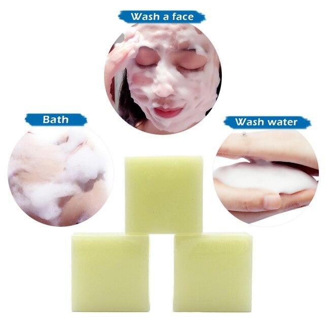 100g Removal Pimple Pore Acne Treatment Sea Salt Soap Cleaner Moisturizing Goat Milk Soap Face Care Wash Basis Soap TSLM1 5