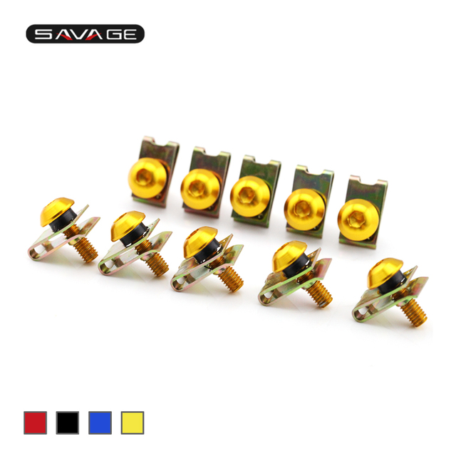 Universal Body Fairing Bolts Spire Speed Fastener Clips Screw 5MM Motorcycle Accessories