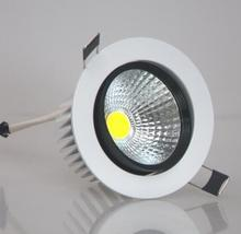 Wholesale price 12W/7W COB LED Recessed dimmable Ceiling Down light Warm White Cool 2700-7000K AC85-265V 50pcs/lot