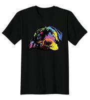 Couché Laboratoire Labrador Retriever Chiot Chien Amoureux Des Animaux T-shirt t D'été D'o-Cou Tops Imprimer Casual T-Shirt Hommes Marque Haut Tee