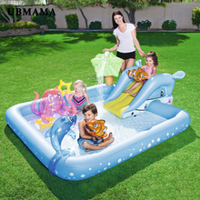 Children playing pool baby inflatable square swimming thickening plastic garden Indoor outdoor toys