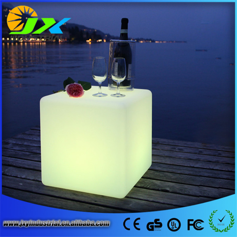 Rechargeable Cylindrical Cube/Led Seat/Led Glow Cube Led Bar Stool Grden Outdoor Chair Free shipping