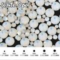 Ss3-ss34 Blanco Opal 3D Nail Rhinestones Flatback Hotfix Strass Cristal Rhinestone Para los Clavos DIY H0007