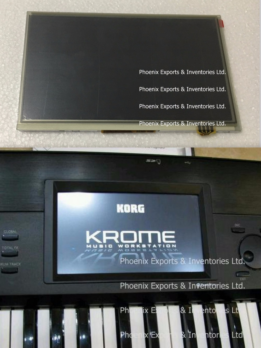 Original KORG Display with Touch Screen Digitizer for Korg KROME LCD Screen  Display Touch Panel