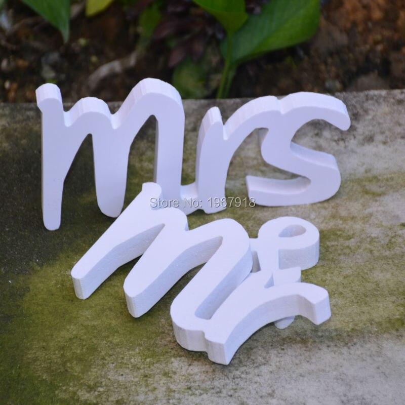 Mr & Mrs свадьба знак высота 8 см Свадебные украшения Mr & Mrs буквы деревянные Mr & Mrs для деревенской свадебной центральные украшения Mariage
