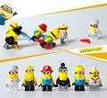 2015 Детские Игрушки Аниме Despcable Меня Миньон Мини Цифры Пластиковые Строительные Блоки Кирпичи Совместимость С Lego Детские Игрушки 6 шт./лот