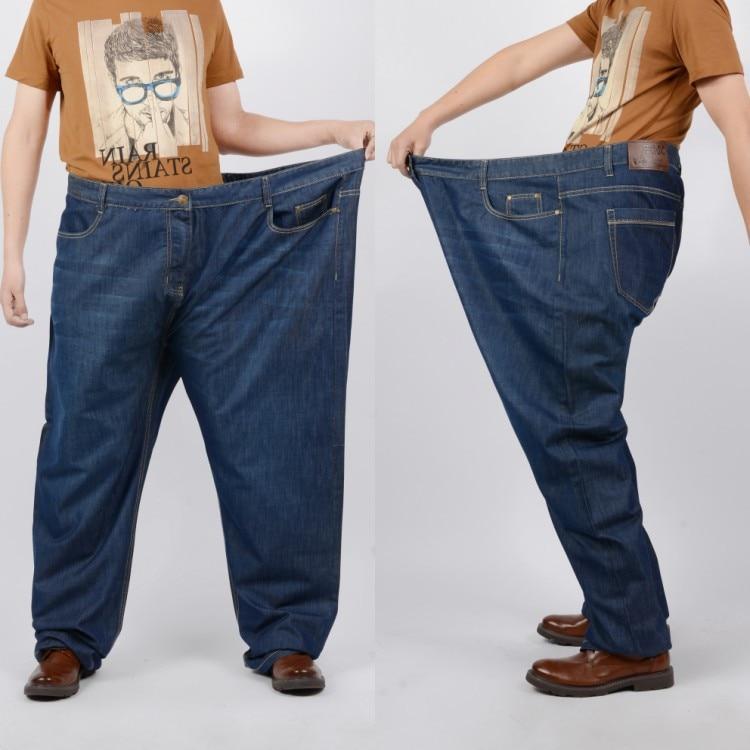 denim pants vintage Large size men and plus size oversized ...