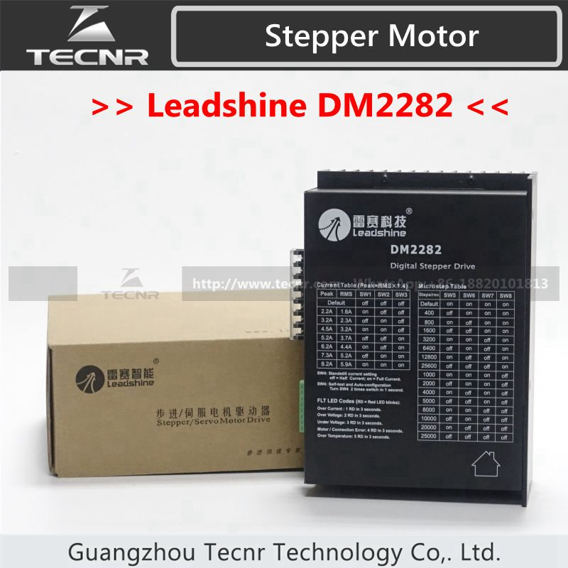 Leadshine DM2282 digital stepper driver for 2 phase NEMA 34 and NEAM 42 step motor 2.2~8.2A,work 80~220VAC, leadshine stepper motor driver 3dm 683 3 phase digital stepper drive max 60vac 8 3a