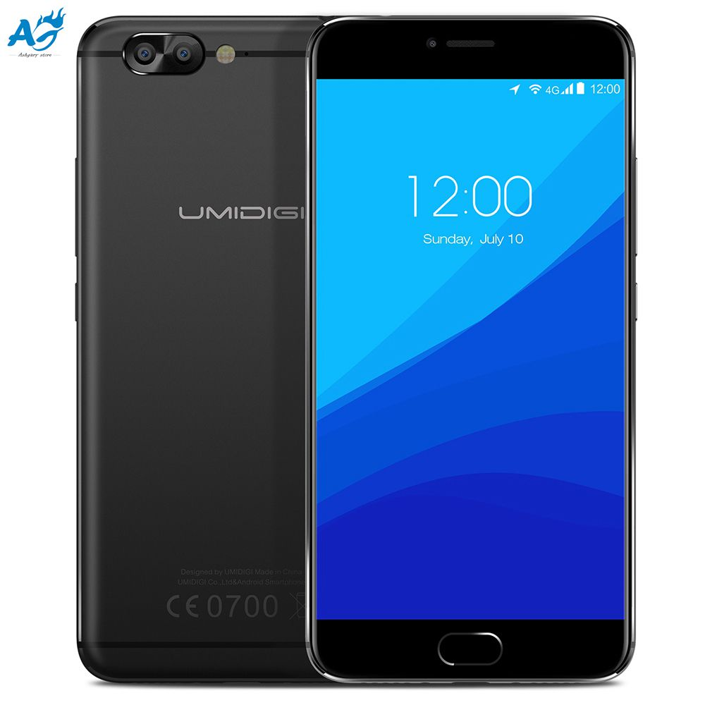 Original UMIDIGI Z Pro 4G Phablet Android 6.0 Smartphone 5.5 inch Helio X27 Deca Core 2.6GHz 4GB+32GB 13.0MP Dual Rear Cam Phone
