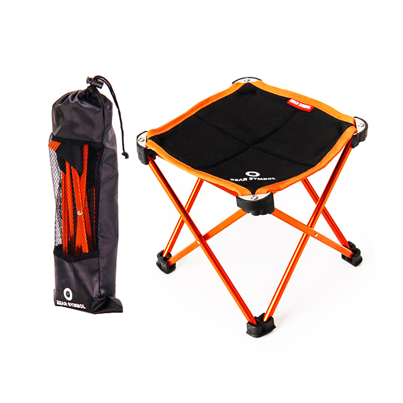 Garden Chairs Portable Outdoor Fishing Folding Camping Chair Oxford Aluminum Alloy Beach Travelling Solid Small Seat 2 Sizes