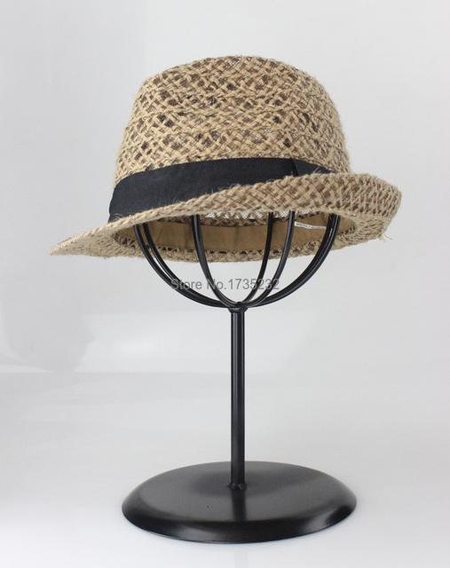 6 unids simple práctico sombrero estante de exhibición tienda Escaparate de la parrilla de metal tapa