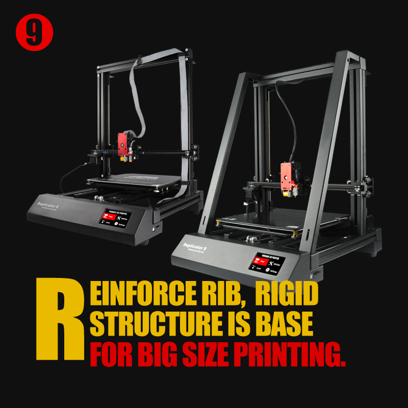 Nouveau Wanhao FDM Bureau 3D Imprimante Machine Duplicateur 9 D9/300 MK2 Avec Auto Nivellement Grande taille D'impression 300 * 300*400mm Livraison Gratuite
