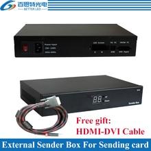 Caja de emisor externa para instalar pantalla LED a todo Color tarjeta de envío, compatible con el transmisor Linsn TS802D
