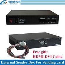 Externe Sender Box für installation Voll Farbe Led anzeige senden Karte, Unterstützung Linsn TS802D