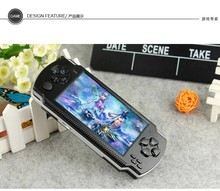 4.3 inch screen 8GB memory handheld game MP4 MP5 Player Games Console 4000 free games support ebook/TV-out/video1.3 MP Camera