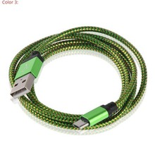 30 pcs a lot 9 colors Micro USB Data Line Charging Cable Cord For Samsung For Xiaomi