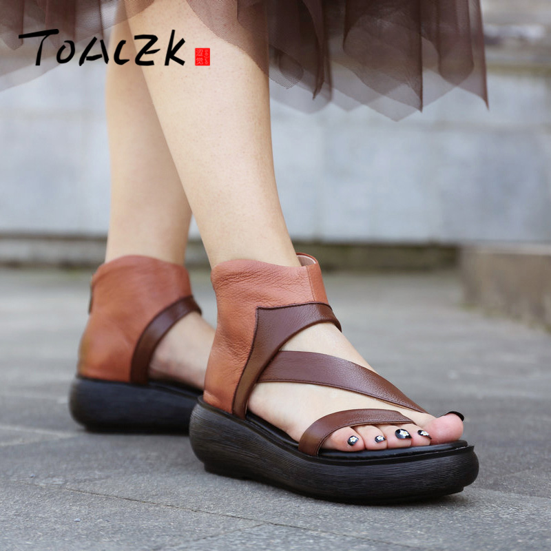 영어 색칠 발가락 샌들, 여성 백 캐주얼 여성 신발, 가죽 슬로프 및 로마 스트랩 시원한 부츠-에서하이힐부터 신발 의  그룹 1