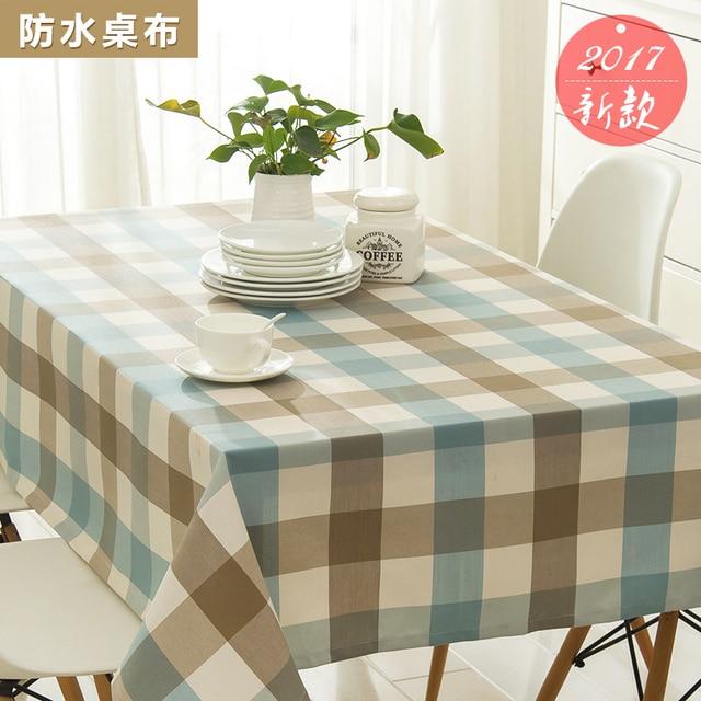 Coffee table waterproof tablecloth lattice tablecloth cotton linen desk table cloth rectangular modern minimalist art