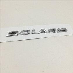 Für Hyundai Solaris Emblem Hinten Boot Abzeichen Logo Chrom Silber Buchstaben Aufkleber
