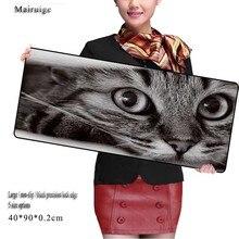 Mairuige Cat Eyes Mouse Pad Large Size Mousepad Laptop Legends Mouse Pad Gear