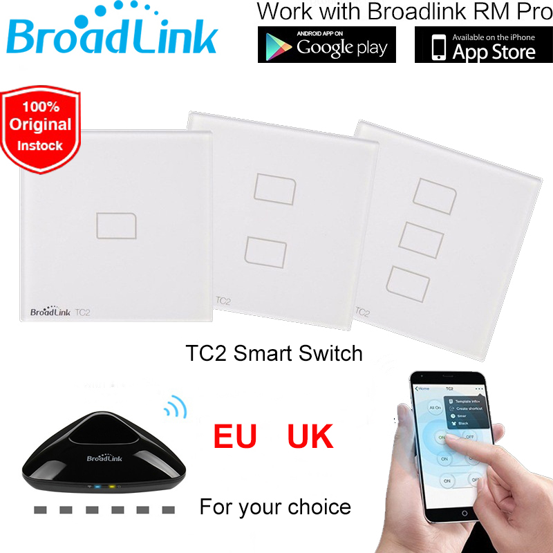 Broadlink TC2 EU UK Standard 1 2 3 Gang WiFi Remote Control Wall Light Switch To