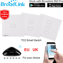 Broadlink TC2 EU UK Standard 1 2 3 Gang WiFi Remote Control Wall Light Switch Touch Screen 110V-240V RM2 RM Pro Smart Home